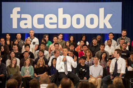 Obama Holds Town Hall To Discuss National Debt And Deficit at Facebook headquarters, Palo Alto