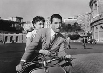 Audrey Hepburn and Gregory Peck in a still from Roman Holiday.
